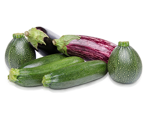 Aubergines and Courgettes image
